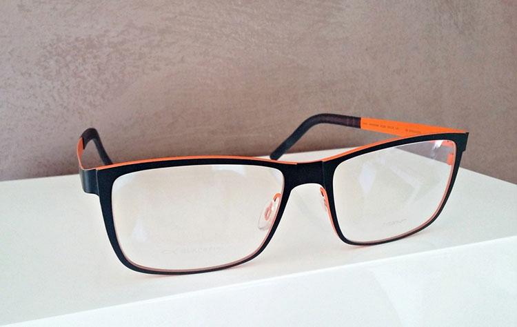 Blackfin occhiali da vista uomo arancioni neri