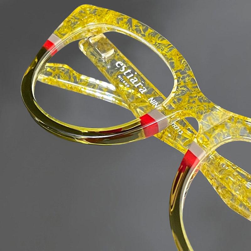 Estiara occhiali da vista gialli