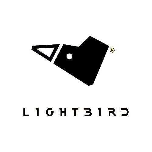 Lightbird logo bianco nero