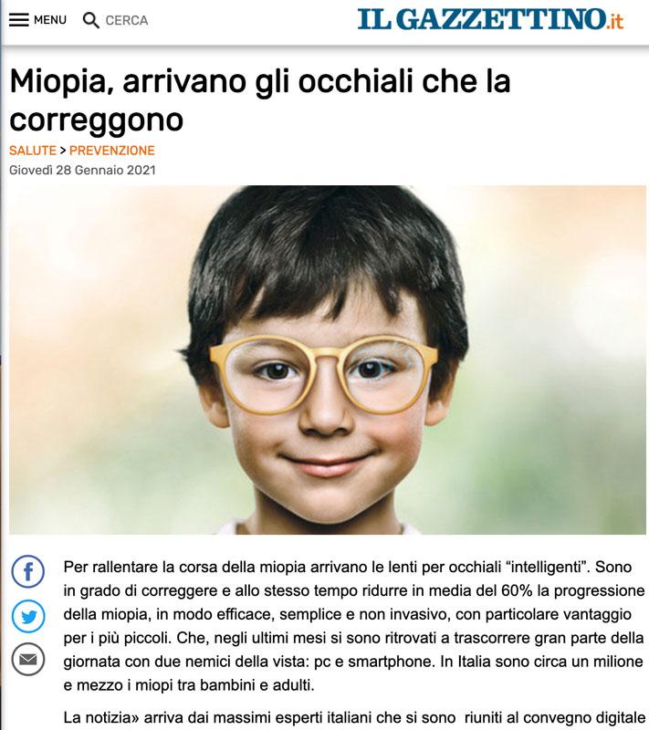 miopia arrivano gli occhiali che correggono la vista. Gazzettino