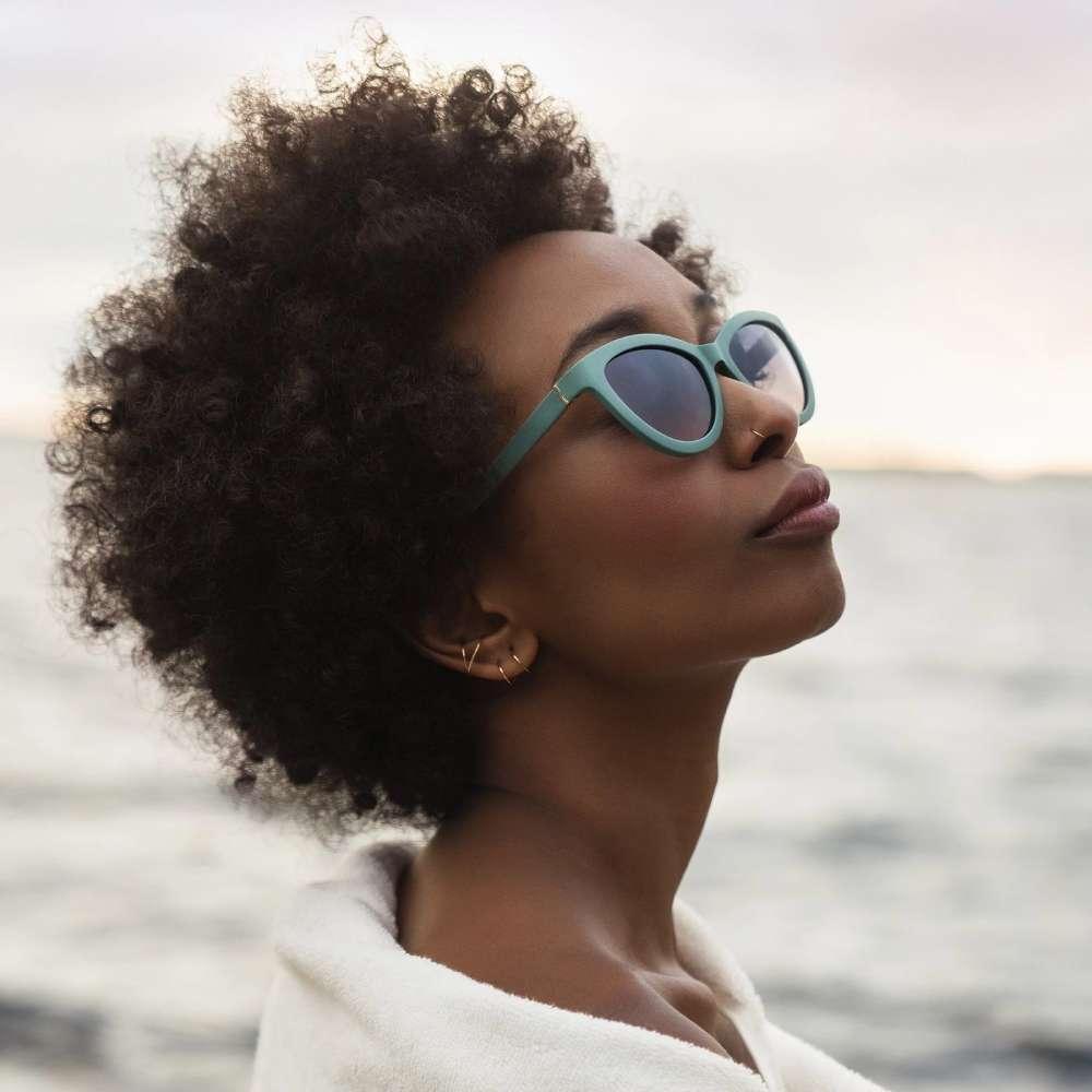 occhiali Eco ecologici SS21 eco ocean pearl acqua
