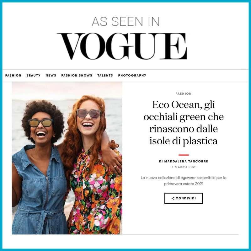 occhiali ecologici Vogue